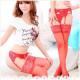 Red Sexy Lace Garter Silk Stockings Garter 2021