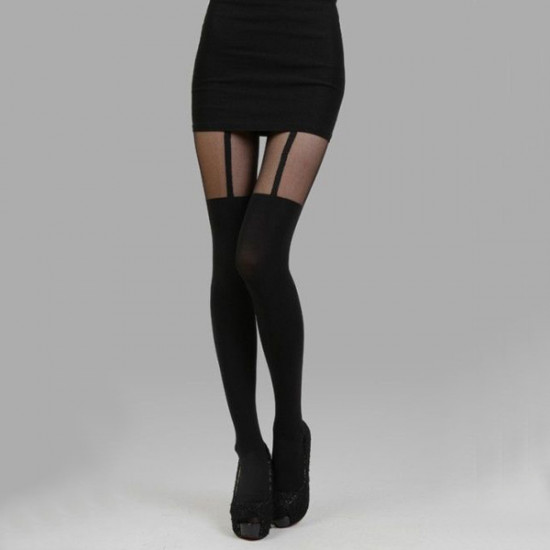 Kvinders Sexy Sheer High Tights Garter Stocking 2021