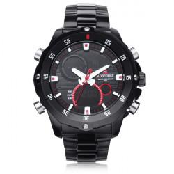 da alike ak sport dato chronograph baggrundslys sorte maend armbandsur.