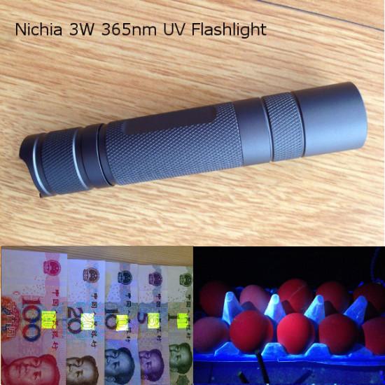 Nichia 3W 365nm UV High Power DIY LED-Ficklampa 1 * 18650 2021