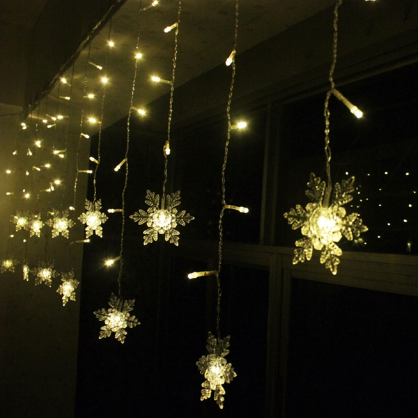 Led String Lights Wedding : Buy LED Snowflake Light String Christmas Wedding Curtain Decoration Lamp BazaarGadgets.com