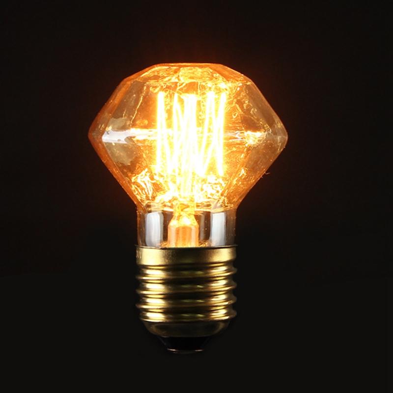 buy e27 40w vintage antique edison carbon filament clear glass bulb 220v. Black Bedroom Furniture Sets. Home Design Ideas