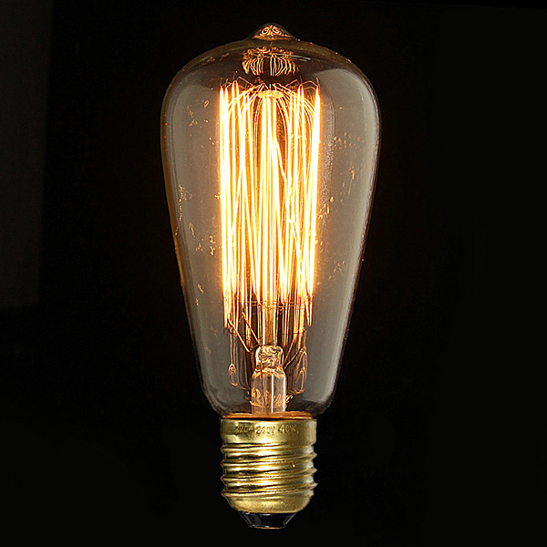 Buy e27 40w vintage antique edison incandescent bulb st64 - Ampoule e27 40w ...