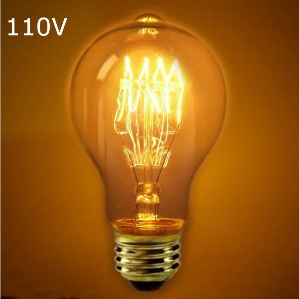 Buy Incandescent Bulb E27 110v 40w A19 Retro Edison Light Bulbs