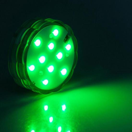 10 LED Vattentät LED-ljus Dränk Med fjärrkontroll 2021