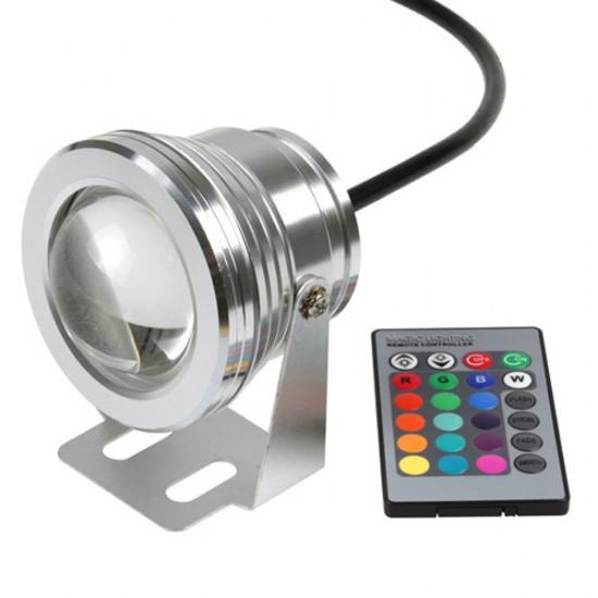 10W 12V Underwater RGB Vattentät LED Pool Ljus med Fjärrkontroll 2021