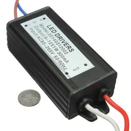 10W 50-60Hz High Power LED Driver Vattentät IP65 AC85V-265V 2021