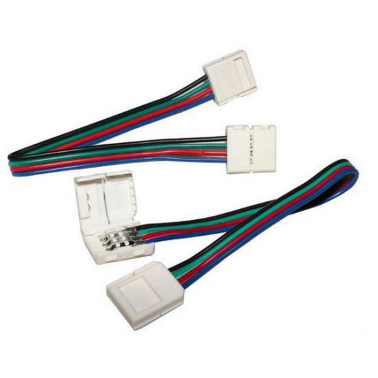 12mm 4-Pin LED Connector for RGB LED Bånd Lysbånd Lys Med Wire 2021