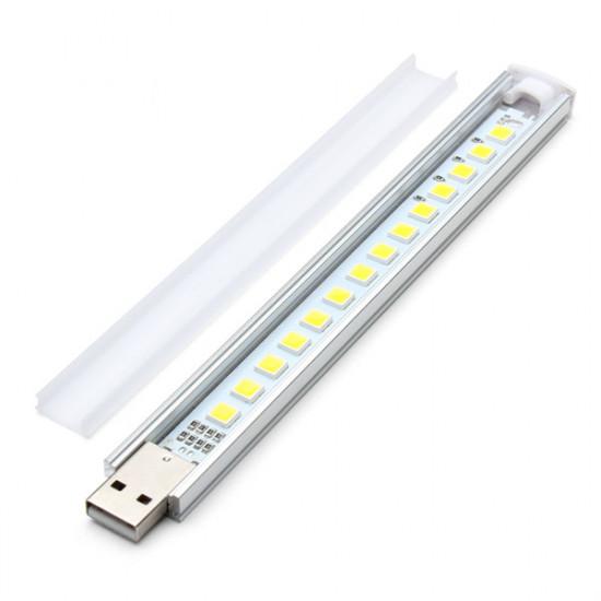 16cm 2.6W 14 SMD 5152 Aluminum Shell Strip Super Bright USB LED Lys 2021
