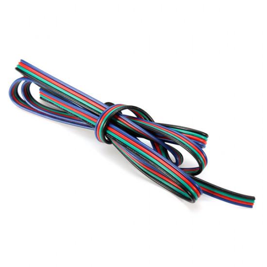 1M 4-Pin LED Förlängnings Wire Connector Kabel Sladd för RGB Lysrör 2021