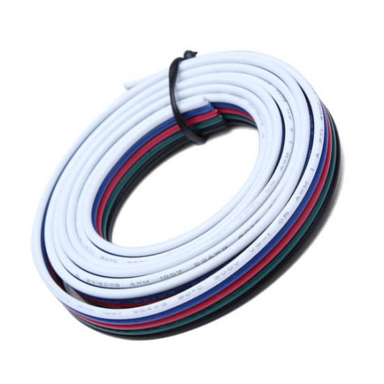 1M 5-Pin LED RGB Strip Forlængerkabel Wire for 5050/3528 Strips 2021