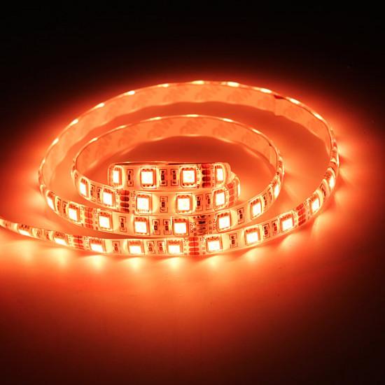 1M 5050 RGB 60 SMD Vattentät LED Slinga Ljus 12V AC / DC + Controller 2021