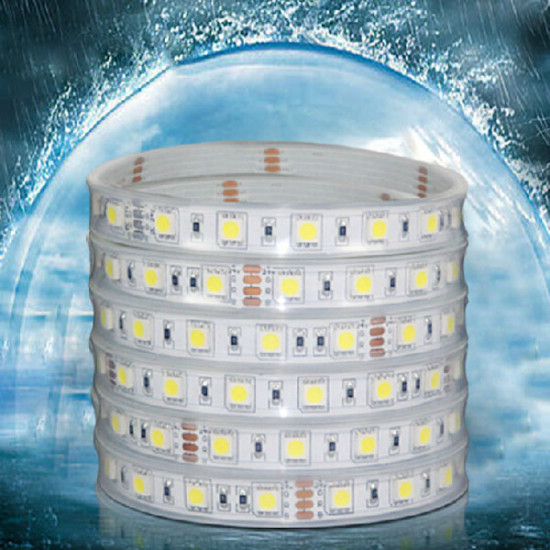 1M 5050 SMD 60LED Casing LED Bånd Lysbånd Lys Vandtæt IP67 DC 12V 2021