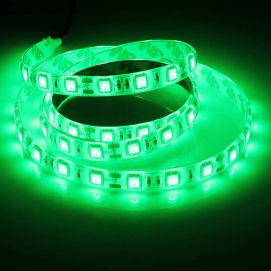 1M 5050 SMD 60LED Flexibel LED Slinga Ljus Röd / Grön / Blå Vattentät 12V 2021