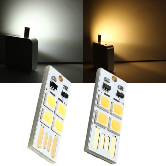 1W 50LM Mini Touch Switch USB Mobile Power Camping LED Lampa 3-7V 2021