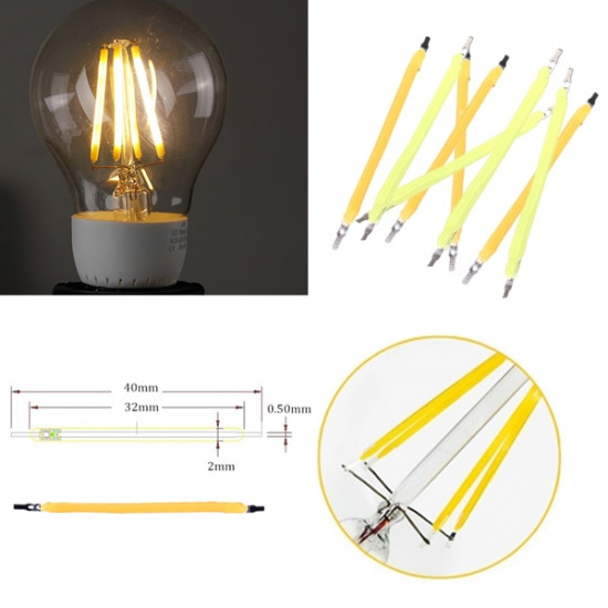 1W COB LED Filament Globe Candle Lys Source Hvid / Varm Hvid DIY 2021