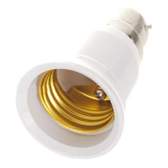 B22 till E27 Ljus Lampa Adapter Omvandlare Konverter 2021