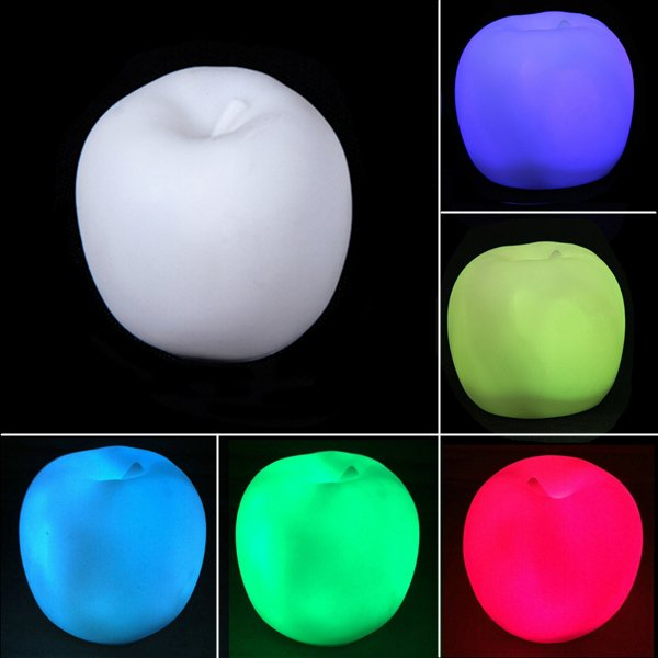 Places That Buy Used Car Batteries Buy Color Changing Apple LED Night Light Christmas Party Decoration ...
