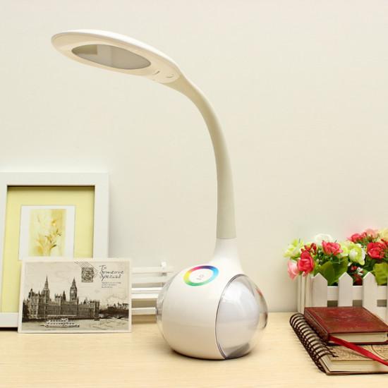 LED Färgglada Ögonskydd Läsning Bordslampa Justerbar Nattlampa 2021
