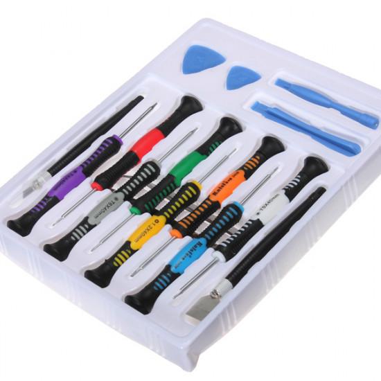 16 i 1 Reparationsverktyg Skruvdragare Kit för iPhone iPad4 Mobiltelefon 2021