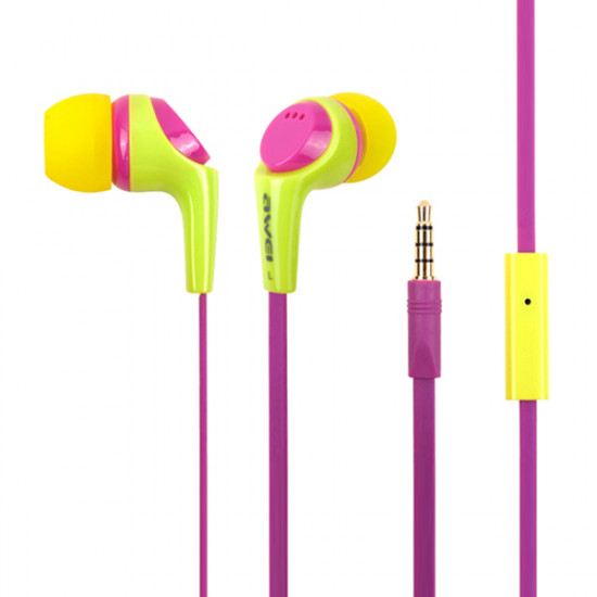 Awei Q6i 3.5mm In-ear Studio Bass Earphone With Mic For Cellphone 2021