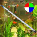 57CM 6.5W 30LED Fish Tank Aquarium LED Light 5050 SMD RGB  Light Bar IP68 Waterproof Submersible Lamp EU/US/UK Plug Apple Accessories