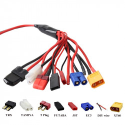 8 In 1 XT60 JST Battery Charging Cable