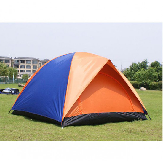 Outdoor Camping Waterproof Oxford Fabric Two Door Tent for 3-4 People 2021