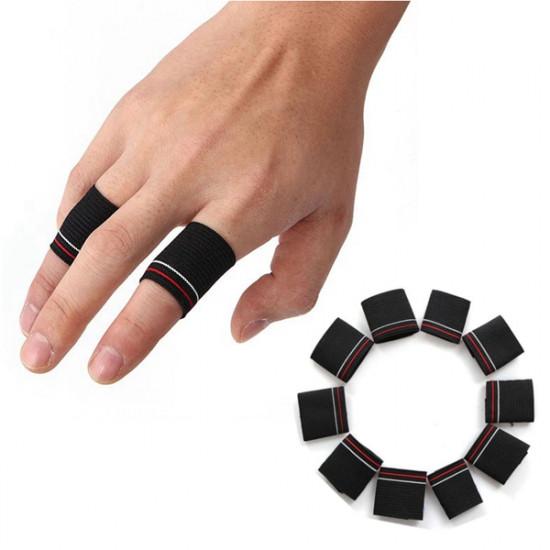 10stk Finger Schutz Schutz Unterstützung dehnbar Sporthilfe Band Schwarz 2021