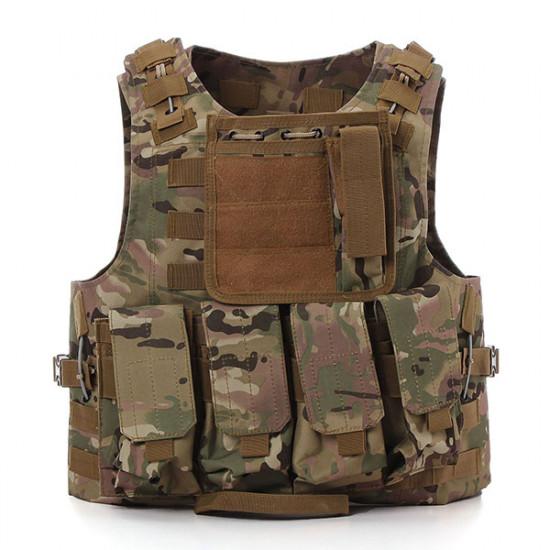 Camo SWAT Politi Tactical Militær Combat Vest Heavy Duty 2021