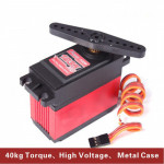 PowerHD 40kg/ 170g High Torque High Voltage Digital RC Servo HD1235MG for 1/5 RC Car (Compatible with FUTABA JR) Bil Reservdelar