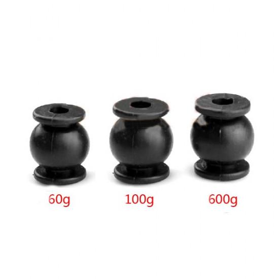 4st Vibrations Rubber Stötdämpare Ball 60g / 100g / 600g 2021