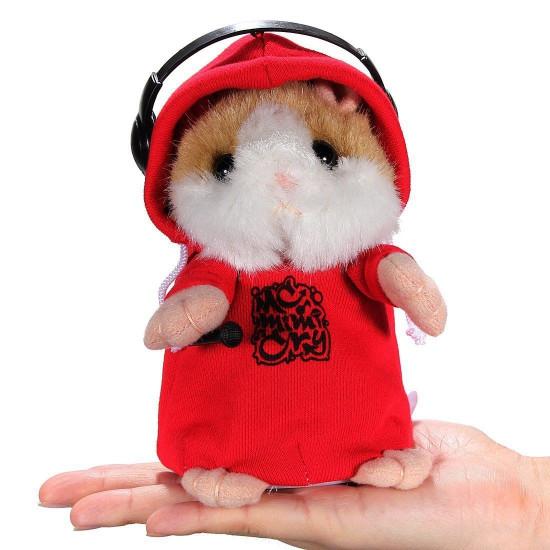 DJ Rapparen Early Learning Bära Kläder Hamster Upprepa Talking Leksak 2021