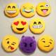 Emoji SmileyEmoticon Gelb Runde Plüsch weiches Spielzeug Puppe 2021