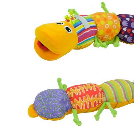 Het Färgrik Musical Inchworm Mjuk Älskvärd Develop Barn Leksak 2021