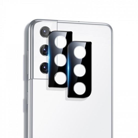 2st Samsung Galaxy S21 Plus / Galaxy S21+ Camera Black Reptålig Metal Circle Ring Kameralinsskydd 2021