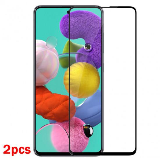 2st 9H 0.26mm 2.5D Curved Härdat Glas Skärmskydd Samsung Galaxy A51 2021