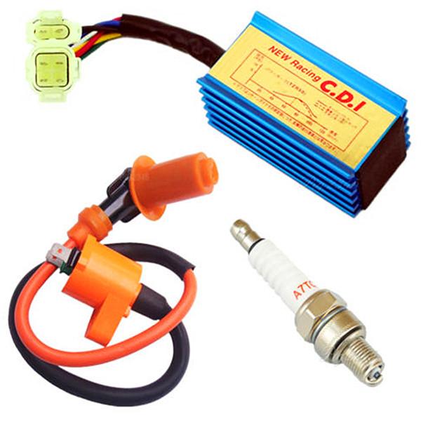 Original Spark Plug Ignition Coil AC CDI for GY6 Scooter ATV 50cc 125cc 150cc
