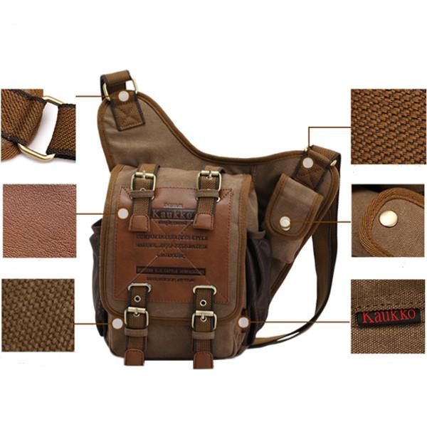 Buy Men's Retro Canvas Travel Shoulder Bags Messenger Bag ...