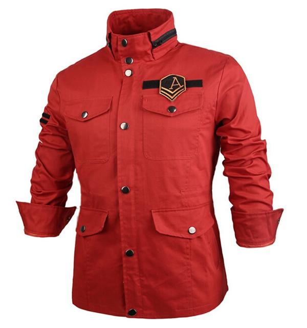3b6fa8170140 Køb Vinter Militær Mænd Slim Fit Stand Collar Trench Overcoat Short ...