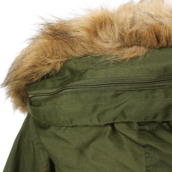 1e8a6796fcc2 Buy Women Thick Fleece Warm Faux Fur Coat Zip Hooded Parka Jackets |  BazaarGadgets.com