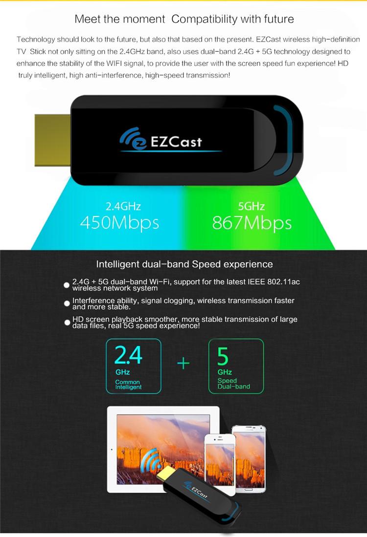 Buy EZCast 5G Wireless Display TV Dongle 2 4G/5GHz 802 11ac