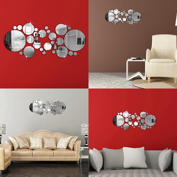 Günstig Kaufen 30stk 3d Kreis Spiegel Wandsticker Acryl