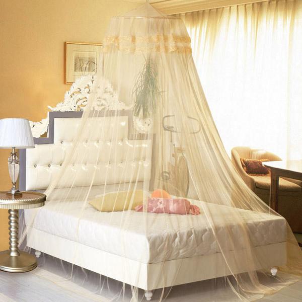 Hypermoderne Køb Elegant Lace Hængende Bedding Myggenet Dome Prinsesse Bed SA-34