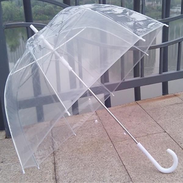 0fd606a98 Buy Clear Dome See Through Long Handle Transparent Umbrella |  BazaarGadgets.com