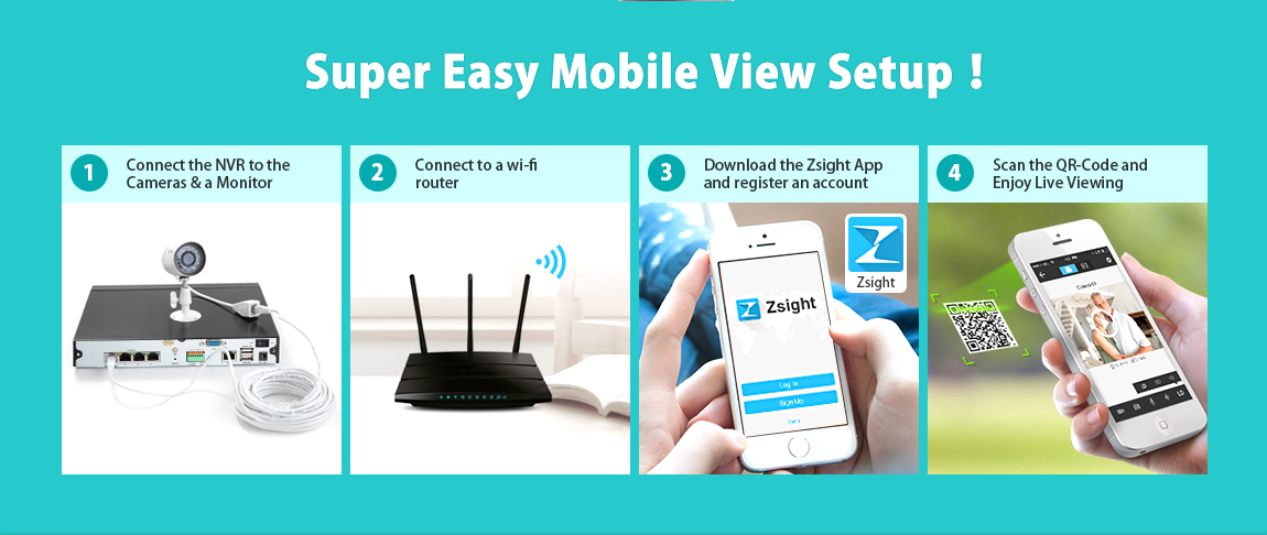 Buy Zmodo 720P PoE NVR HD Night Vision Security Cameras 1TB