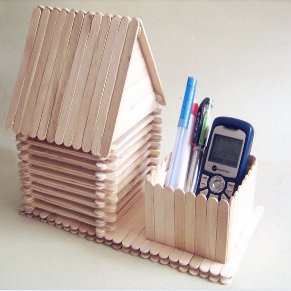 Ice Cream Stick Stationery Stand 2. Craft And Diy Things You Can Make With  Popsicle Sticks