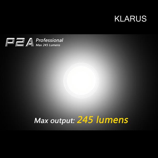 Klarus P2A LED Torch Tactical Light Cree XP-G 245 Lumens 2 AA Waterproof