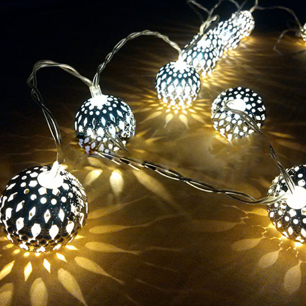 Battery operated outdoor string lights outdoor lighting ideas 20 ball battery operated led fairy string lights garden home aloadofball Image collections
