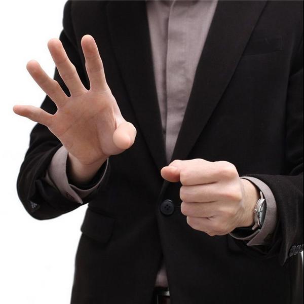 3x Thumb Tip Fingers Fake Magic Trick Vinyl Toys Fun Joke Prank Vanish Red w*e